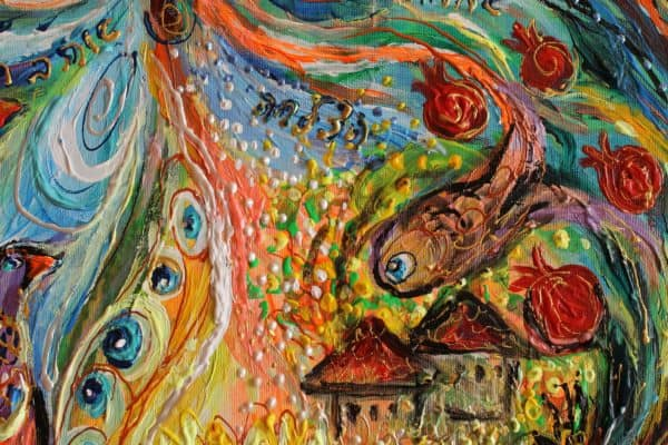 Chagall style artwork of Elena Kotliarker