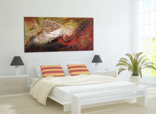 Interior design with original painting of Elena Kotliarker
