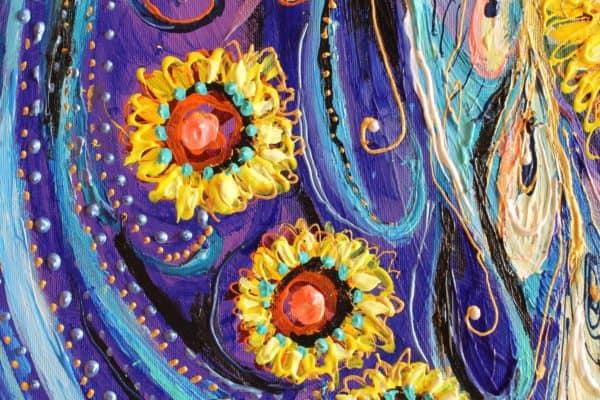 Fragment original painting by Elena Kotliarker