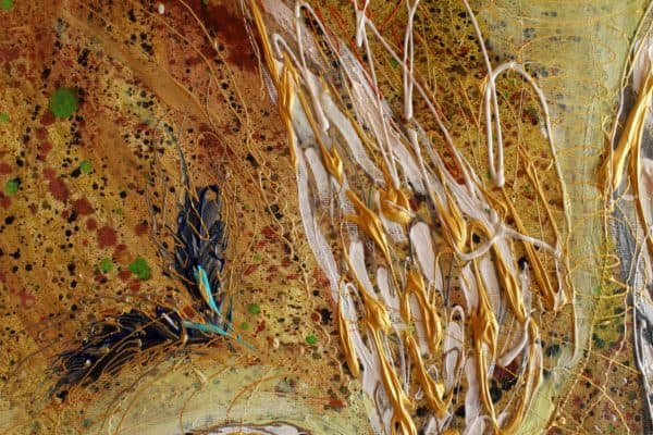Fragment image of the original painting The Angel wings #21. Rose of East. Author: Elena Kotliarker